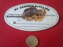 SPAIN PEGATINA ADHESIVO STICKER AGENCIA DE VIAJES ALTAMIRA TORRELAVEGA SANTANDER TRAVEL AGENCY IMAGEN BISONTE BISON.... - Pegatinas