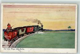 39274092 - Auf Dem Weg Nach Berlin Eisenbahn Soldat Uniform - War 1914-18