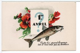 CP - POISSON D'AVRIL - 1er Avril - Poisson D'avril