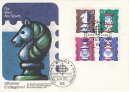 FDC  742 - 745  1970 Wohlfahrtsmarken  Schachfiguren - BRD