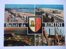 """Cartolina Viaggiata """"Saluti Da RIMINI"""" 1969 - Rimini"""