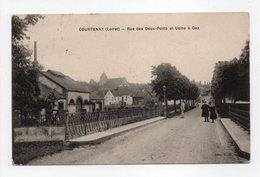 - CPA COURTENAY (45) - Rue Des Deux-Ponts Et Usine à Gaz 1914 - Edition V. O. - - Courtenay
