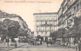 Pamplona (Espagne) - Calle Héroes De Estella Y Plaza Constitucion - Navarra (Pamplona)