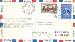 7-1-1961 - Voyage Inaugural PHNOMPENH-HONGKONG Par Boing 707 ( R.A.C. ) - Cambodge