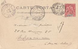 INDOCHINE ANNAM TONKIN CP 1903 QUINHONE ANNAM SUR 10C GROUPE LETTRE => FRANCE - Annam Et Tonkin (1892)
