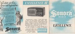 - Dépliant Sur Radio SONORA EXCELLENCE - Autres