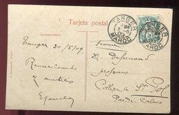 Maroc - Type Blanc De Tanger Sur Carte Postale En 1909 Pour Saint Pol - Prix Fixe - Réf F75 - Morocco (1891-1956)