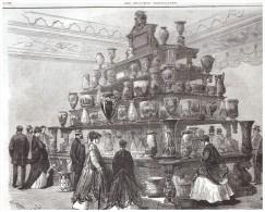Gravure De  1867   MM UTZSCHNEIDER  LES FAIENCES DE SARREGUEMINES - Prints & Engravings