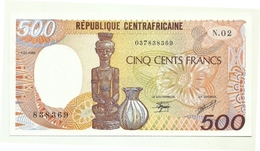 Rep. Centrafricana - 500 Francs 1986 - Centrafricaine (République)