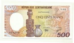 Rep. Centrafricana - 500 Francs 1986 - República Centroafricana