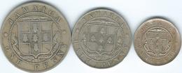 Jamaica - Edward VII  - ¼ Penny / Farthing (1906) KM21; ½ Penny (1910) KM22; 1 Penny (1910) KM23 - Jamaique