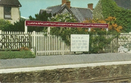 Llanfairpwllgwyngyllgogerychwyrndrobwllllantysiliogogogoch (Wales, Galles) Cartello Stazione Ferroviaria - Gales