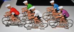 Rare 5 Petits Cyclistes Tour De France Billes - Figurines
