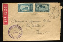 Maroc - Enveloppe En FM (SP 407  Rég. Aviation ) Par Avion  Pour Paris En 1927 - Prix Fixe - Réf F81 - Lettres & Documents