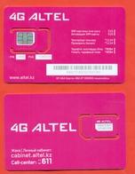 Kazakhstan. Plastic Card With A Sim-card.Phonecards Altel. New Card. - Kasachstan