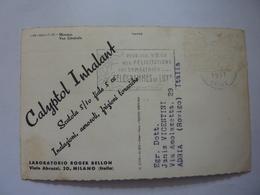 """Cartolina  Viaggiata Pubblicitaria """"MONACO Vue Generale  - LABORATORIO ROGER BELLON Milano"""" 1957 - Casinò"""