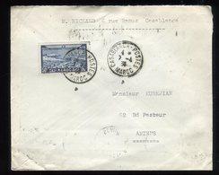 Maroc - Enveloppe De Casablanca Pour Amiens En 1936 - Prix Fixe - Réf F83 - Covers & Documents