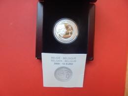 """BELGIQUE 10 EURO 2009 ARGENT QUALITE """"PROOF"""" (COFFRET TRACE D'ETIQUETTE !) - Belgique"""