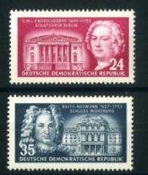 ALLEMAGNE ORIENTALE ( POSTE ) Y&T  115/116  TIMBRES  NEUFS  AVEC  TRACE  DE  CHARNIERE . - [6] Democratic Republic