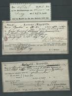 Austria Hungary Bosnia 1832 - 1867  Postal & Court Receipts X 13 Different Ex  Dealer Stock - 1850-1918 Empire