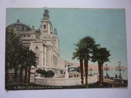 """Cartolina """"MONTE CARLO Le Casino Et Les Terrasses"""" Inizi '900 - Casinò"""