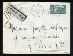 Maroc - Enveloppe De Ain Djemaa  Pour Paris En 1932 Par Avion - Prix Fixe - Réf F86 - Lettres & Documents