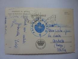 """Cartolina Viaggiata """"Casino De Monte Carlo, Terrasses Sur La Mer"""" 1950 - Casinò"""
