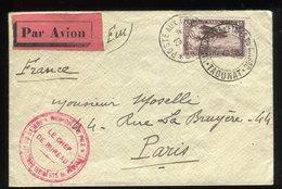 Maroc - Enveloppe En FM Pour Paris En 1923 Par Avion ,cachet Vaguemestre D'Étapes Taounat - Prix Fixe - Réf F87 - Lettres & Documents