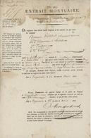 Grande Armée 1806 Extrait Mortuaire Hôpital Militaire Ingolstadt - Documents Historiques
