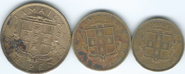 Jamaica - George VI  - 1937 ¼ Penny / Farthing - 1937 (KM27) ½ Penny (KM28) & 1 Penny (KM29) - Jamaique