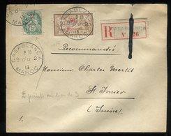 Maroc - Enveloppe En Recommandé De Casablanca Pour La Suisse En 1913 , Affr. Plaisant - Prix Fixe - Réf F88 - Lettres & Documents