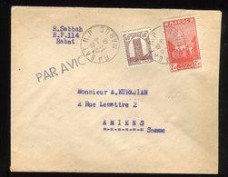 Maroc - Enveloppe De Rabat Pour Amiens En 1946, Par Avion - Prix Fixe - Réf F91 - Maroc (1891-1956)