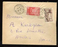 Maroc - Enveloppe De Petitjean Pour Amiens En 1946 - Prix Fixe - Réf F92 - Maroc (1891-1956)