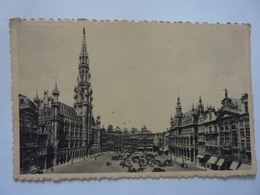 """Cartolina Viaggiata """"BRUXELLES  Hotel De La Ville Et Grand Place"""" 1951 - Monumenti, Edifici"""