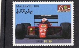 Ferrari F1 89 (1989)  -  Maldives 1v MNH/Neuf/Mint - Automovilismo