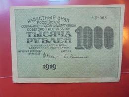 RUSSIE 1000 ROUBLES 1919 TRES PEU CIRCULER - Russie