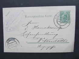 GANZSACHE Neunkirchen - Wiener Neustadt Hans Mayer Eisenwaren Korreposndenzkarte ///  D*36729 - 1850-1918 Imperium