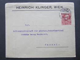 GANZSACHE Wien - Kassel Privatganzsache Heinrich Klinger 1908///  D*36730 - Briefe U. Dokumente