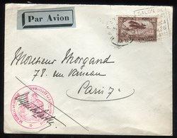 Maroc - Enveloppe En FM De Rabat Pour Paris En 1932 Par Avion - Prix Fixe - Réf F96 - Lettres & Documents