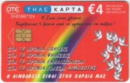 GREECE E-573 Chip OTE - Used - Greece