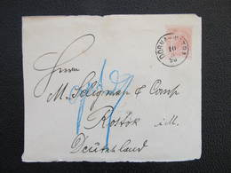 GANZSACHE Dorna Watra - Rostock 1898  ///  D*36732 - 1850-1918 Imperium