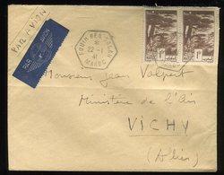 Maroc - Enveloppe De Fqui Ben Salah Pour Ministère De L 'Air à Vichy En 1941 Par Avion - Prix Fixe - Réf F97 - Maroc (1891-1956)
