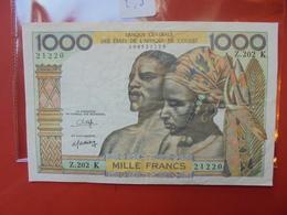 AFRIQUE DE L'OUEST 1000 FRANCS PEU CIRCULER - États D'Afrique De L'Ouest