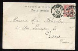 Maroc - Type Mouchon Surchargé De Tanger Pour Paris En 1905 Sur Carte Postale - Prix Fixe - Réf F98 - Lettres & Documents