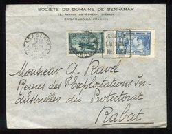 Maroc - Enveloppe De Casablanca Pour Rabat En 1930 , Vignette Et Daguin Foch - Prix Fixe - Réf F100 - Lettres & Documents
