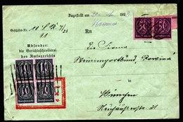 A5903) DR Infla Dienstbrief Chemnitz 20.01.23 N. München M. Stummem Stempel - Deutschland