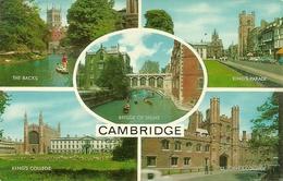 Cambridge (Cambridgeshire) Views: The Backs, King's Parade, Bridge Of The Sighs, King's College, St. John's College - Cambridge