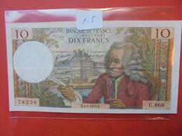 FRANCE 10 FRANCS 1973 CIRCULER - 10 F 1963-1973 ''Voltaire''