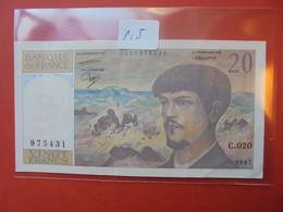 FRANCE 20 FRANCS 1987 PEU CIRCULER PAS DE TROUS D'EPINGLES - 1962-1997 ''Francs''