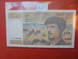 FRANCE 20 FRANCS 1990 PEU CIRCULER PAS DE TROUS D'EPINGLES - 1962-1997 ''Francs''